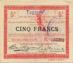 5 Francs FRANCE régionalisme et divers TUPIGNY 1916 JP.02-2317.SQG TTB