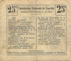 25 Centimes FRANCE régionalisme et divers  1916 JP.02-2319.BRU TB+