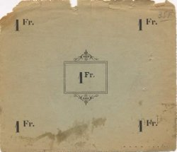 1 Franc FRANCE régionalisme et divers VADENCOURT ET BOHERIES 1915 JP.02-2328 TB