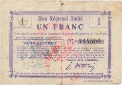 1 Franc FRANCE régionalisme et divers  1916 JP.02-2356.BRU B+