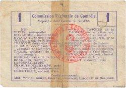1 Franc FRANCE régionalisme et divers VAUX ANDIGNY 1916 JP.02-2356.BRU TB
