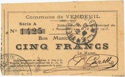 5 Francs FRANCE régionalisme et divers  1915 JP.02-2369 TTB