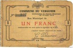 1 Franc FRANCE régionalisme et divers VERGUIER (LE) 1915 JP.02-2376 TB