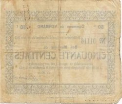 50 Centimes FRANCE régionalisme et divers  1915 JP.02-2381 TB+