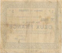 2 Francs FRANCE régionalisme et divers VERMAND 1915 JP.02-2383 TB+