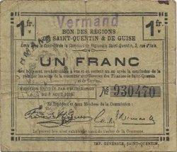 1 Franc FRANCE régionalisme et divers VERMAND 1916 JP.02-2386.SQG TB