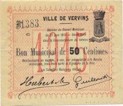 50 Centimes FRANCE régionalisme et divers VERVINS 1915 JP.02-2390 TTB