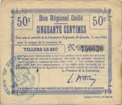 50 Centimes FRANCE régionalisme et divers  1916 JP.02-2404.BRU TTB