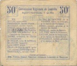 50 Centimes FRANCE régionalisme et divers VILLERS LE SEC 1916 JP.02-2404.BRU TTB