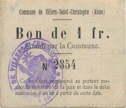 1 Franc FRANCE régionalisme et divers VILLERS SAINT CHRISTOPHE 1916 JP.02-2426 TTB