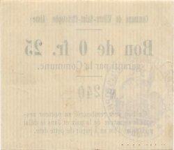 25 Centimes FRANCE régionalisme et divers VILLERS SAINT CHRISTOPHE 1916 JP.02-2438 SUP