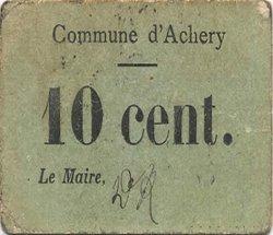 10 Centimes FRANCE régionalisme et divers ACHERY 1916 JP.02-2495 TTB