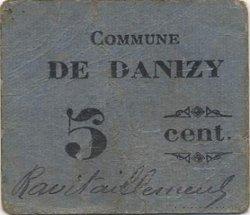 5 Centimes FRANCE régionalisme et divers DANIZY 1916 JP.02-2556 TTB
