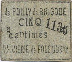 5 Centimes FRANCE régionalisme et divers FOLEMBRAY 1916 JP.02-2595 TTB