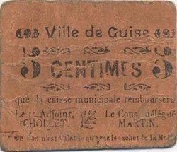 5 Centimes FRANCE régionalisme et divers GUISE 1916 JP.02-2615 TB