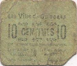10 Centimes FRANCE régionalisme et divers GUISE 1916 JP.02-2622 B+