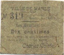 10 Centimes FRANCE régionalisme et divers MARLE 1915 JP.02-2648 B+