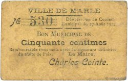 50 Centimes FRANCE régionalisme et divers MARLE 1915 JP.02-2650 TB