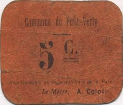 5 Centimes FRANCE régionalisme et divers PETIT VERLY 1915 JP.02-2683 TTB