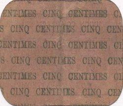 5 Centimes FRANCE régionalisme et divers SAINT QUENTIN 1916 JP.02-2705 TTB
