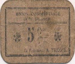 5 Centimes FRANCE régionalisme et divers SAINT QUENTIN 1916 JP.02-2705 TB