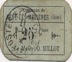 25 Centimes FRANCE régionalisme et divers SERY-LES-MEZIERES 1916 JP.02-2713 TTB