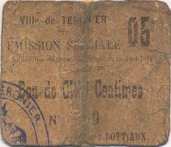 5 Centimes FRANCE régionalisme et divers  1915 JP.02-2720 pr.TB