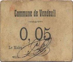 5 Centimes FRANCE régionalisme et divers VENDEUIL 1916 JP.02-2746 TTB