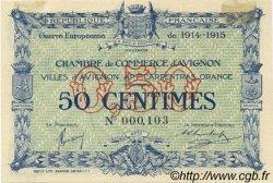 50 Centimes FRANCE régionalisme et divers Avignon 1915 JP.018.01 SPL