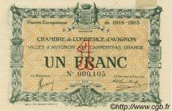 1 Franc FRANCE régionalisme et divers Avignon 1915 JP.018.05 SPL