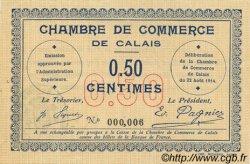 50 Centimes FRANCE régionalisme et divers CALAIS 1914 JP.036.01 pr.NEUF