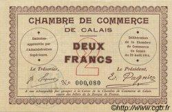 2 Francs FRANCE régionalisme et divers Calais 1914 JP.036.05 SUP+