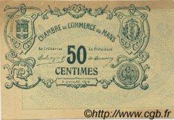 50 Centimes FRANCE régionalisme et divers LE MANS 1915 JP.069.01 SPL