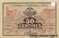 50 Centimes FRANCE régionalisme et divers Le Mans 1922 JP.069.23 pr.NEUF