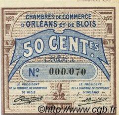 50 Centimes FRANCE régionalisme et divers ORLÉANS ET BLOIS 1920 JP.096.01 NEUF