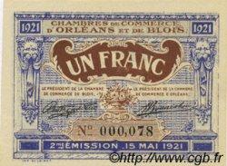 1 Franc FRANCE régionalisme et divers Orléans et Blois 1921 JP.096.07 NEUF