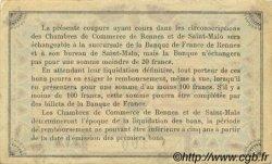 50 Centimes FRANCE régionalisme et divers RENNES ET SAINT-MALO 1915 JP.105.01 SPL