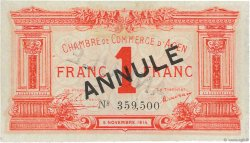 1 Franc FRANCE régionalisme et divers AGEN 1914 JP.002.04 SUP+