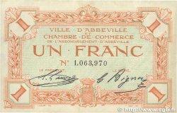 1 Franc FRANCE régionalisme et divers Abbeville 1920 JP.001.03 TTB