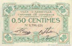 50 Centimes FRANCE régionalisme et divers Abbeville 1920 JP.001.08 TTB+
