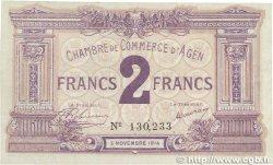 2 Francs FRANCE régionalisme et divers Agen 1914 JP.002.05 SUP