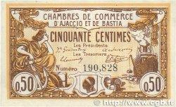 50 Centimes FRANCE régionalisme et divers Ajaccio et Bastia 1915 JP.003.01 SUP+