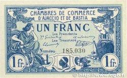 1 Franc FRANCE régionalisme et divers Ajaccio et Bastia 1915 JP.003.02 pr.NEUF