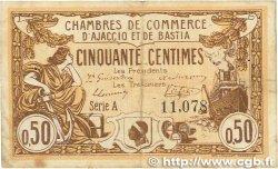 50 Centimes FRANCE régionalisme et divers AJACCIO ET BASTIA 1915 JP.003.03 TB