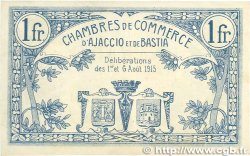 1 Franc FRANCE régionalisme et divers Ajaccio et Bastia 1915 JP.003.04 SUP+