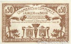50 Centimes FRANCE régionalisme et divers Ajaccio et Bastia 1917 JP.003.06 SUP+