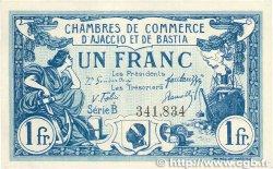 1 Franc FRANCE régionalisme et divers AJACCIO ET BASTIA 1917 JP.003.07 SUP