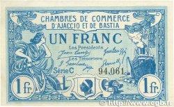 1 Franc FRANCE régionalisme et divers AJACCIO ET BASTIA 1920 JP.003.09 TTB+