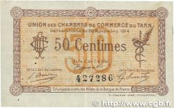 50 Centimes FRANCE régionalisme et divers ALBI - CASTRES - MAZAMET 1914 JP.005.01 TTB
