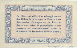 1 Franc FRANCE régionalisme et divers Alencon et Flers 1915 JP.006.17 SUP